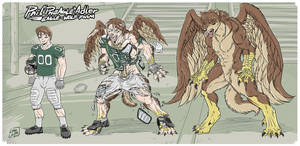 Phil ''Pheagle'' Adler - Eagle-Wolf Form by Pheagle-Adler