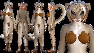 Cougar Felinoid Gynoid Mk II ref sheet by NukuNookee