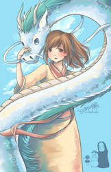 Peace and Flow (Spirited Away) by cloverhearts