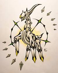 Tribal Arceus by Esmeekramer