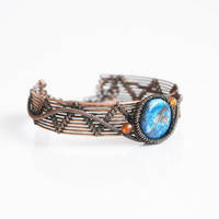 Blue agate bracelet by Arrabeska