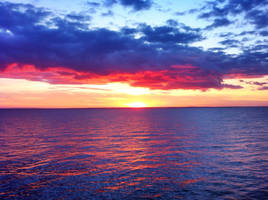 Ocean Sunset by towerpower123