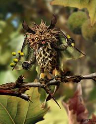 Sycamore Owl by KomodoEmpire