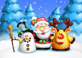 Santa and Friends by KomodoEmpire