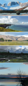 Landscape studies by JeremyPaillotin