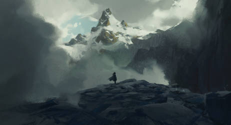 Some mountain again + Process video by JeremyPaillotin