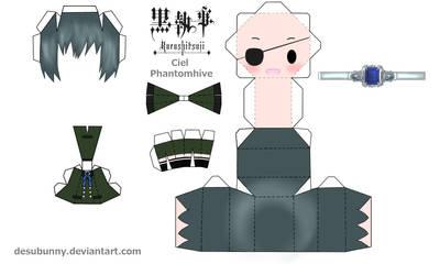 Kuroshitsuji Ciel Papercraft by tsunyandere