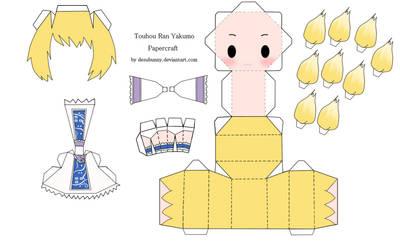 Touhou Ran Yakumo Papercraft by tsunyandere