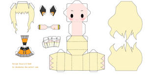 Chibi Vocaloid SeeU Papercraft by tsunyandere