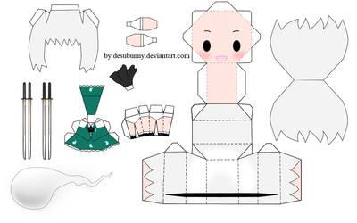 Touhou Youmu Papercraft by tsunyandere
