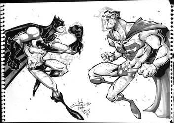 Superman Batman ConSketch by Red-J