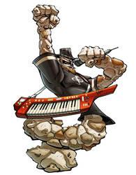 Rockman with a keytar by Red-J