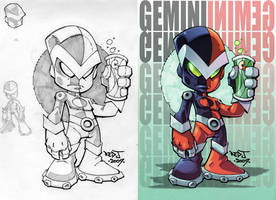 OC2 sketch 06 :: Lil Gemini by Red-J