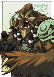 OC2 sketch 14 :: Wookie by Red-J