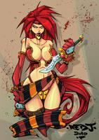 OC2 sketch 21 :: Red Monika by Red-J