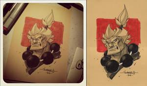 Akuma :: OC3 Head Sketch 03 by Red-J