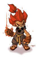 Akuma :: Chibi Commish by Red-J