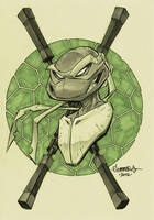 TMNT :: Mikey head sketch by Red-J