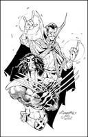 Wolvie + Dr. Strange by Red-J