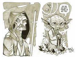 Yoda and Old Ben Kenobi by Red-J