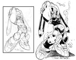 Sketch to inks :: Kwinz ninja by Red-J