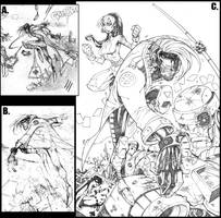Gambit :: Thumbnails to Pencil by Red-J