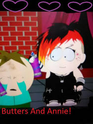 Butters And Annie Bartlett At The Hot Topic by rowdyroughman