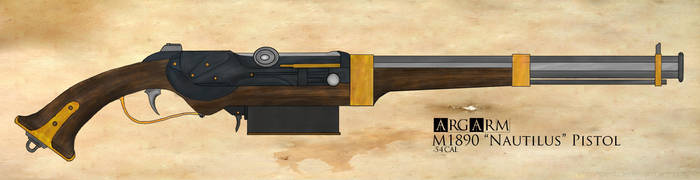 Arghaven Armaments Model 1890 'Nautilus' Pistol by TheGhostBox