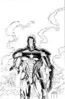 IRON MAN -raffle piece at ECCC by JMan-3H