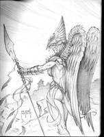 Hawkgirl Warrior by JMan-3H