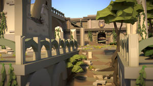 Ambinite Temple LowPoly by HitchHock