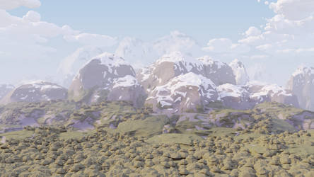 Lowpoly Mountains by HitchHock
