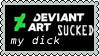 deviantART sucked my dick by lizardliker