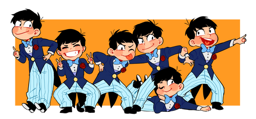 Osomatsu kun by Muchinery