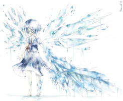 Too cold even for Cirno by Toshi-curl