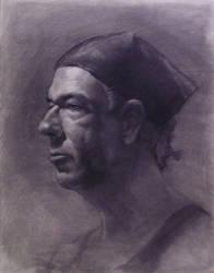Portrait Study by Paullunetta