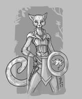 Kitty - Tabaxi Cleric of Mielikki by Narthyxa