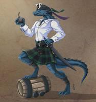 Angus - Dread Pirate Lizarkfolk by Narthyxa