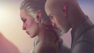 Solas and Lavellan by MissBasha