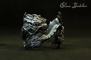 Silver Dragon by Elena-Shabalina