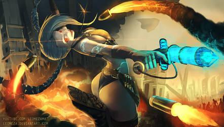 Jinx Of league of legends by leomeza