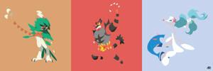 Final Form Alola Starter (Pokemon) Minimalist by slezzy7