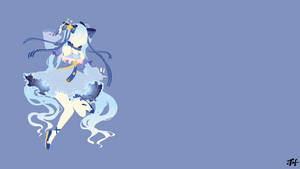 Show Miku 2017 Minimalist Wallpaper by slezzy7