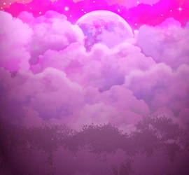 Anime Style Night Background by FireSnake666