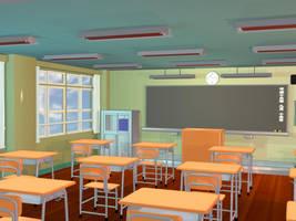 Anime Background - Classroom II by FireSnake666