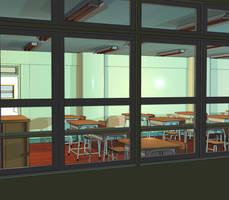 Anime Background: Classroom III by FireSnake666
