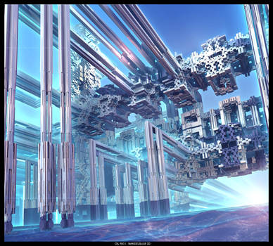 OIL RIG I - Mandelbulb 3D - Photoshop CS2 by FireSnake666