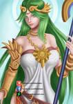 Lady Palutena - NSFW optional by FideDraws