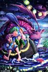 Feeding the Water Dragon by Ermelin