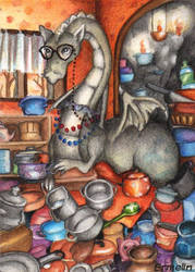 Weird old Lady Eiluned by Ermelin